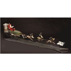 Original Santa Jack sleigh with Jack, Zero and reindeer from The Nightmare Before Christmas