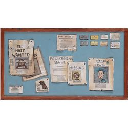 Original prop bulletin board from Police Station in The Nightmare Before Christmas