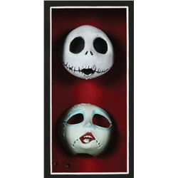 Screen-used Jack and Sally faces from The Nightmare Before Christmas