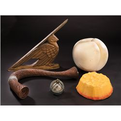 ¼ scale giant peach, hatch lid, giant peach stem, sundial and compass from James and the Giant Peach