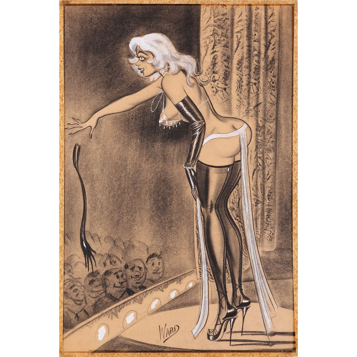 Displaying 18> Images For - Burlesque Dancer Art...