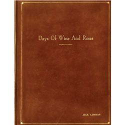 Days of Wine and Roses script