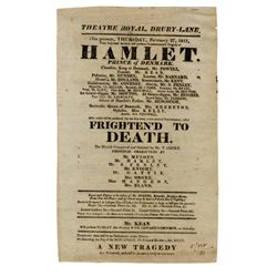 Pair of early 19th century theater broadsides