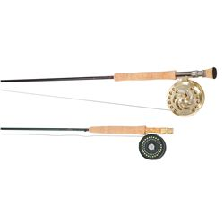 Pair of fly fishing rods and reels in case