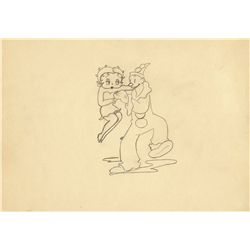 Fleischer Studios Betty Boop & Koko drawing