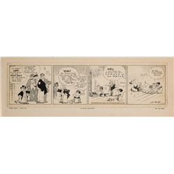 "Original comic strip art for Barney Google by Billy DeBeck, 1931: ""A Cure for Nervousness"""