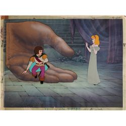 Original production cel and production background from Max Fleischer's Gulliver's Travels