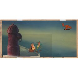 Original production cel and production background from Mr. Bug Goes to Town