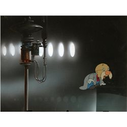 Original production cel of Professor on production background from Cool World