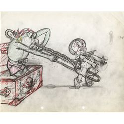 Original layout drawing from Bosko and the Pirates