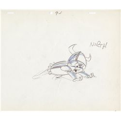 Original production layout drawing by Chuck Jones from What's Opera, Doc?