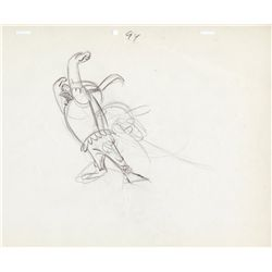 Pair of original production layout drawings by Chuck Jones from What's Opera, Doc?