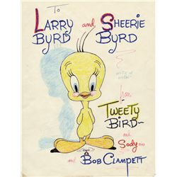 Tweety Bird original Bob Clampett drawing