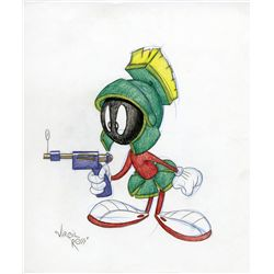Marvin the Martian original Virgil Ross drawing