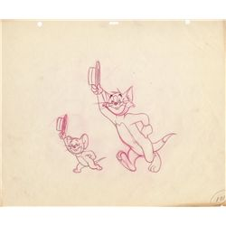 Tom & Jerry original vintage key pencil layout