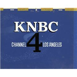 Original production network Channel 4 KNBC Los Angeles logo cel and background