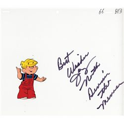 Dennis the Menace original publicity cel signed by Jay North