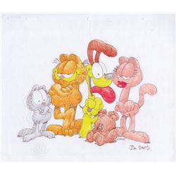 Original drawing of Garfield and friends by Jim Davis