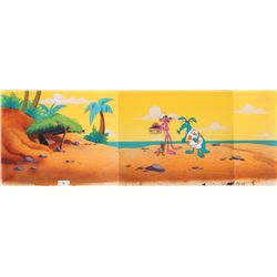 Pink Panther, Aardvark and Ant original production cels on pan production background