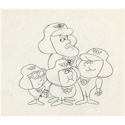 Original model drawing from Roger Ramjet