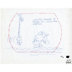 Four (4) Peanuts layout drawings 1970s