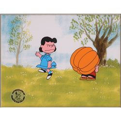 Original production cel of Lucy and Linus from It's the Great Pumpkin, Charlie Brown