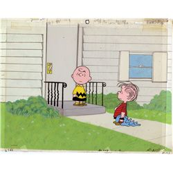 Original Peanuts production cel and background from You're In Love, Charlie Brown