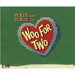 Pixie and Dixie original production title card