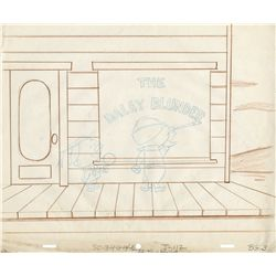 Original pencil layout drawing from Quick Draw McGraw