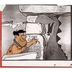 Rare original production cel of Fred Flintstone from the opening titles of The Flintstones