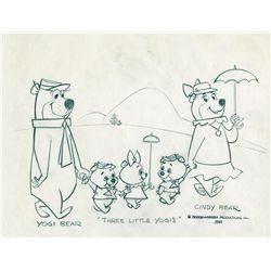 Original production Yogi Bear family model drawing