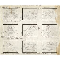 "Rare complete storyboard for The Flintstones episode, ""Cinderella Stone"""