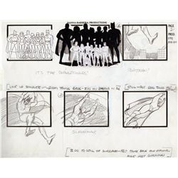 Bound volume of storyboards for Superfriends, Fonz and the Happy Days Gang, and numerous others