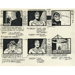 Alex Toth original production storyboard from Superfriends