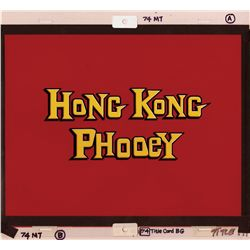 Complete original set of 12 Main Title and End Credit cards for Hong Kong Phooey