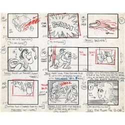 "Fantastic 4 original production storyboard for the episode, ""Menace of the Mole Man"""