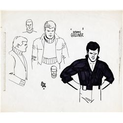 Pair of original Alex Toth model sheets from Gulliver's Travels