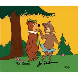 Cindy flirting with Yogi 1988 Hanna-Barbera artist proof limited edition cel
