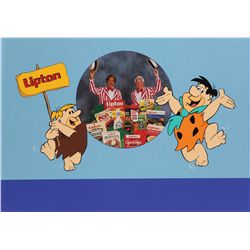 The Flintstones original promotional artwork for Lipton products