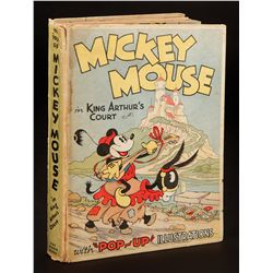 Mickey Mouse in King Arthur's Court pop-up book, 1st edition with dust jacket signed and inscribed