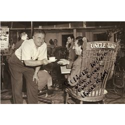 "Oversize portrait of Walt Disney inscribed and signed ""Uncle Walt"""