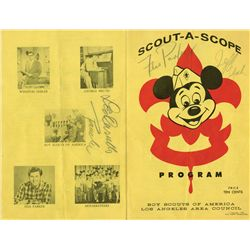 "Walt Disney signed ""Scout-A-Scope"" program from 1956 Boy Scouts event"