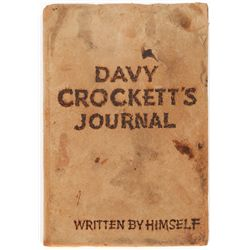 Davy Crockett's Journal prop book from the Walt Disney series, Disneyland