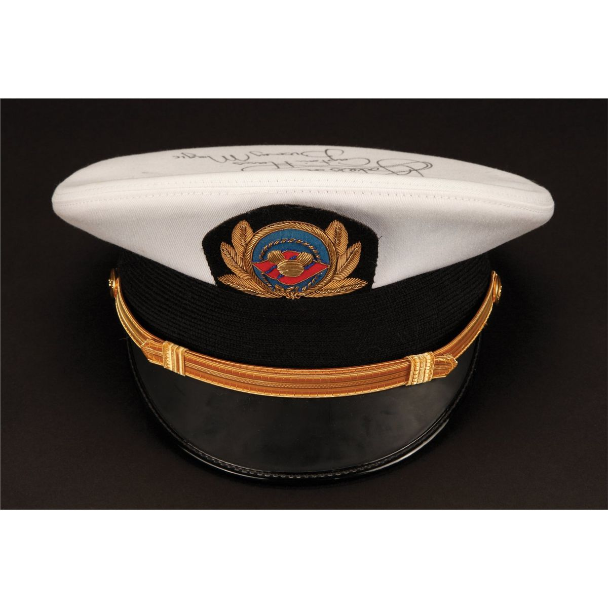 Signed Captains Hat From The Captain Of The Disney Cruise Ship - Cruise ship costume