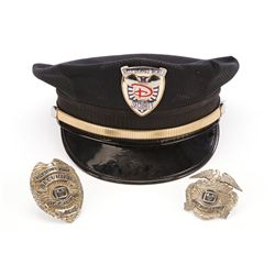Disney World security guard hat with security badge and extra security guard badges