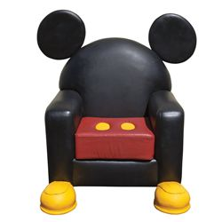 "Mickey Mouse leather chair from Disney World ""Toon Town"""