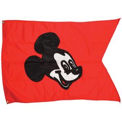 Mickey Mouse flag that hung above Walt Disney World Main Street Station