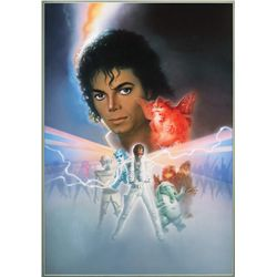 Original artwork for the Captain EO attraction poster at Disneyland