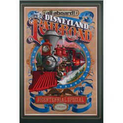 """Disneyland Railroad"" bicentennial Limited Edition attraction poster"