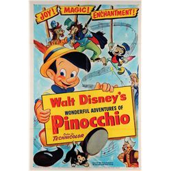 Walt Disney animation collection of (7) posters and (4) pressbooks